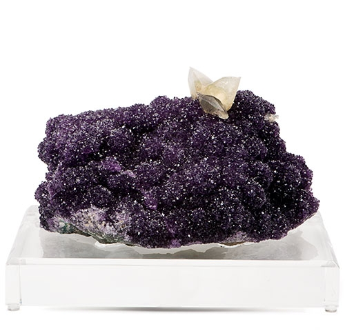 Amethyst Cluster with Calcite on Lucite Base Amethyst-Cluster.jpg
