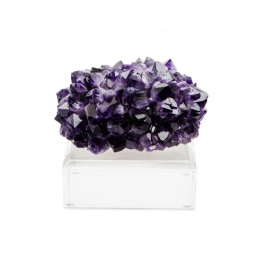 Amethyst Specimen on Lucite Base