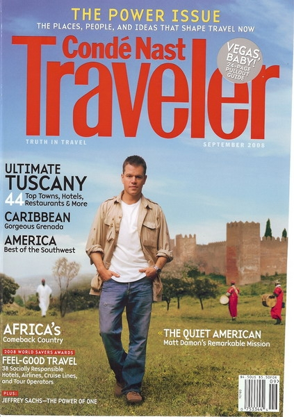 Conde Nast Traveler September 2008