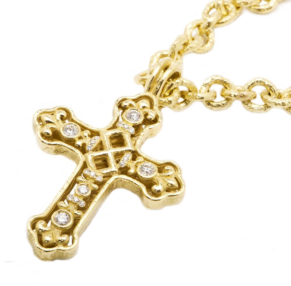 Large Coreena Cross D-1088_Lg_Coreena_Cross_on_N-1066_8mm_Link_Necklace.jpg