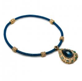 Blue Tourmaline, Paraiba Tourmaline & Diamond Pendant