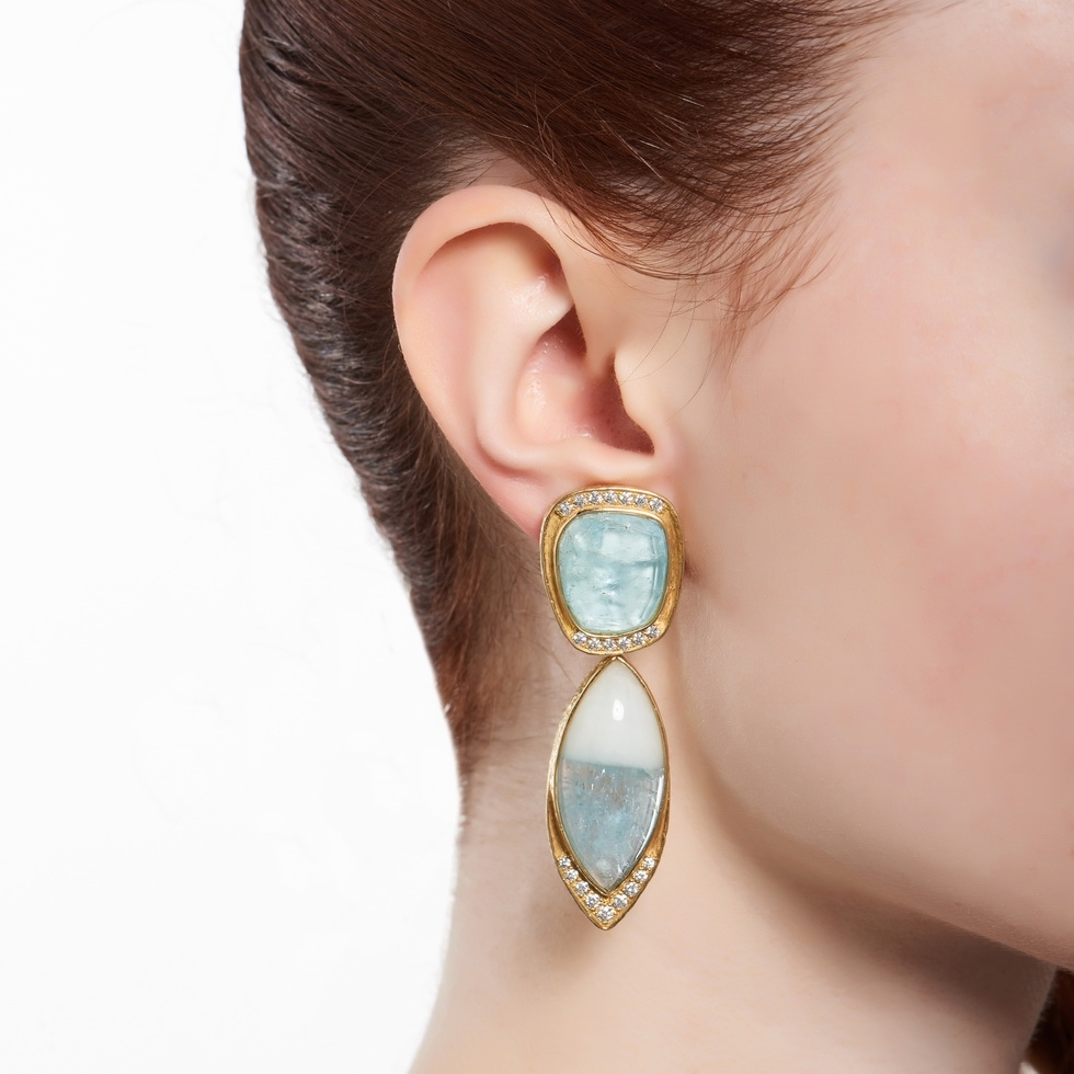 Aqua and Diamond Earrings with Removable Drops E-1484-12060_on_model.jpg