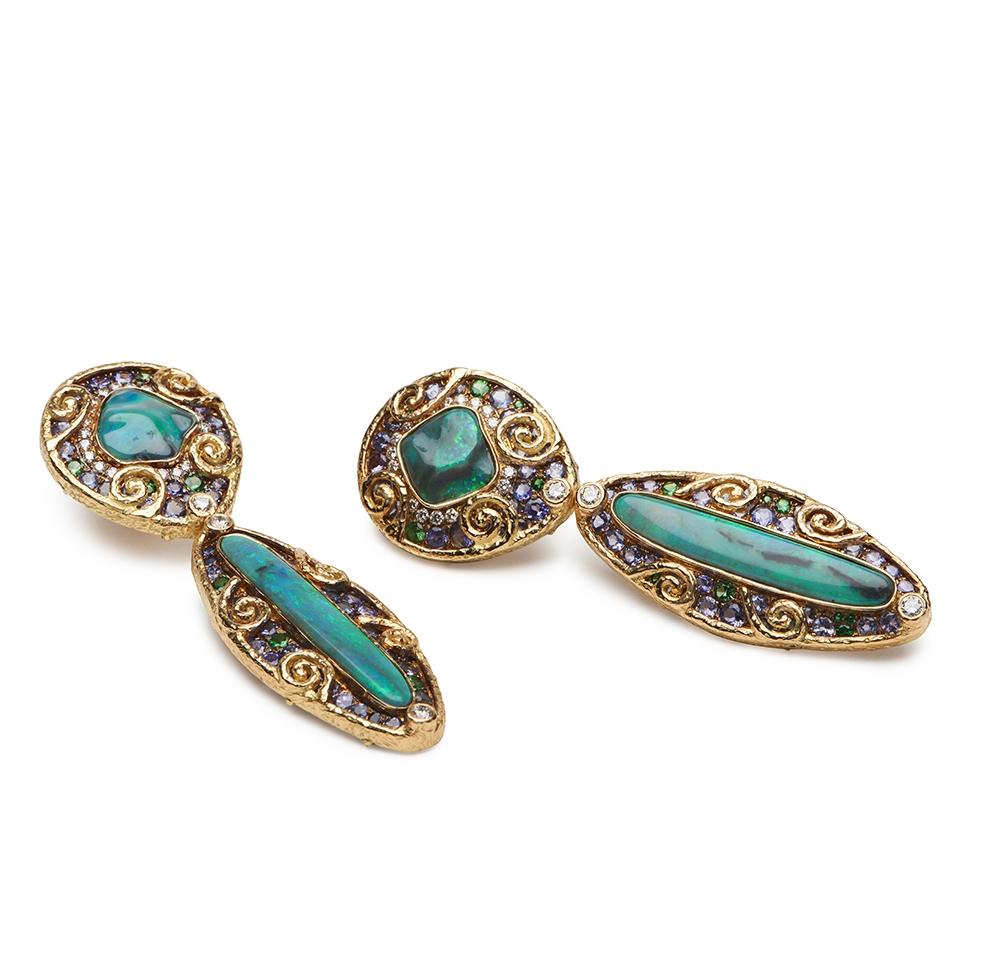 Opal, Tanzanite, Tsavorite and Diamond Earrings E-1504-12721_Lightning_Ridge_Black_Opal,_Tanzanite,_Tsavorite_and_Diamond_Earrings.jpg