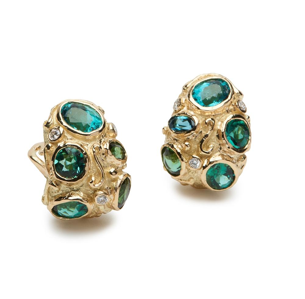 Tourmaline and Diamond Earrings E-1514-13007_18k_yg_Fac._Multi_Tourmaline_and_Diamond_Earrings_.jpg