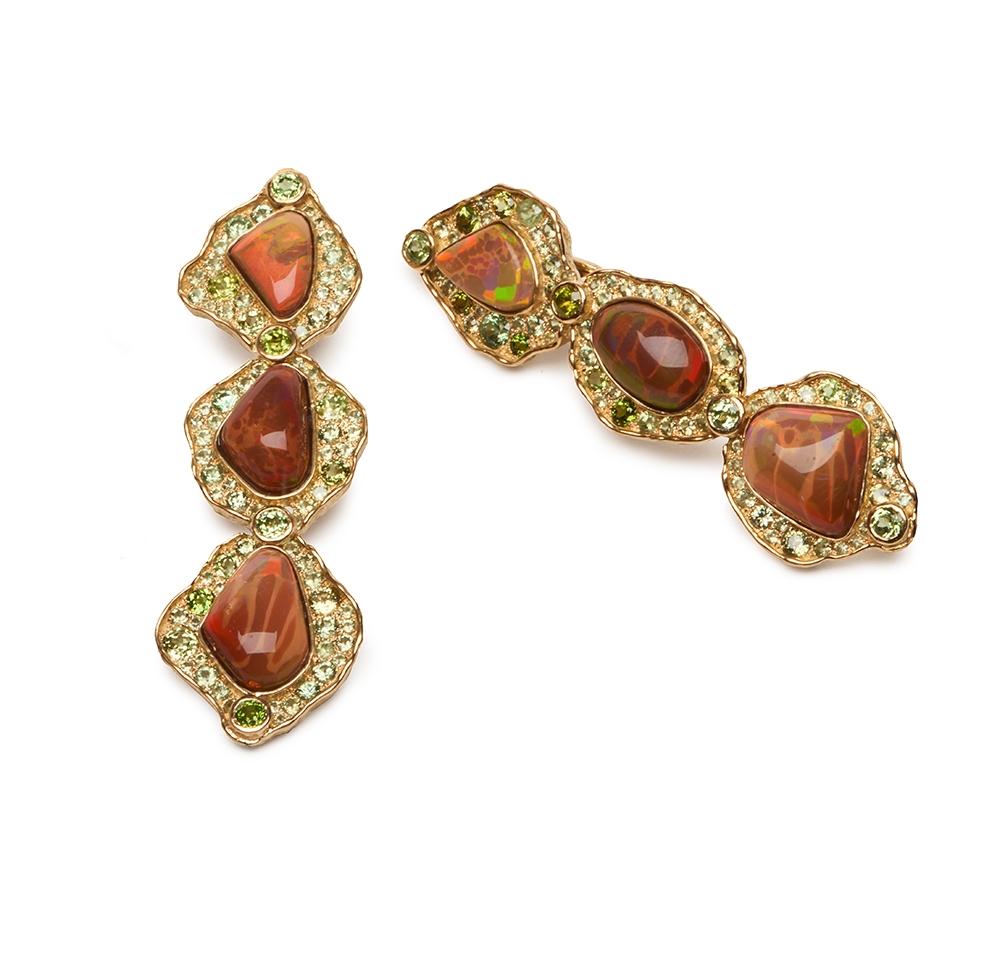Ethiopian Opal and Garnet Earrings E-1525-13331_18k_yg_Ethiopian_Opal,_Demantoid_Garnet_Earrings.jpg