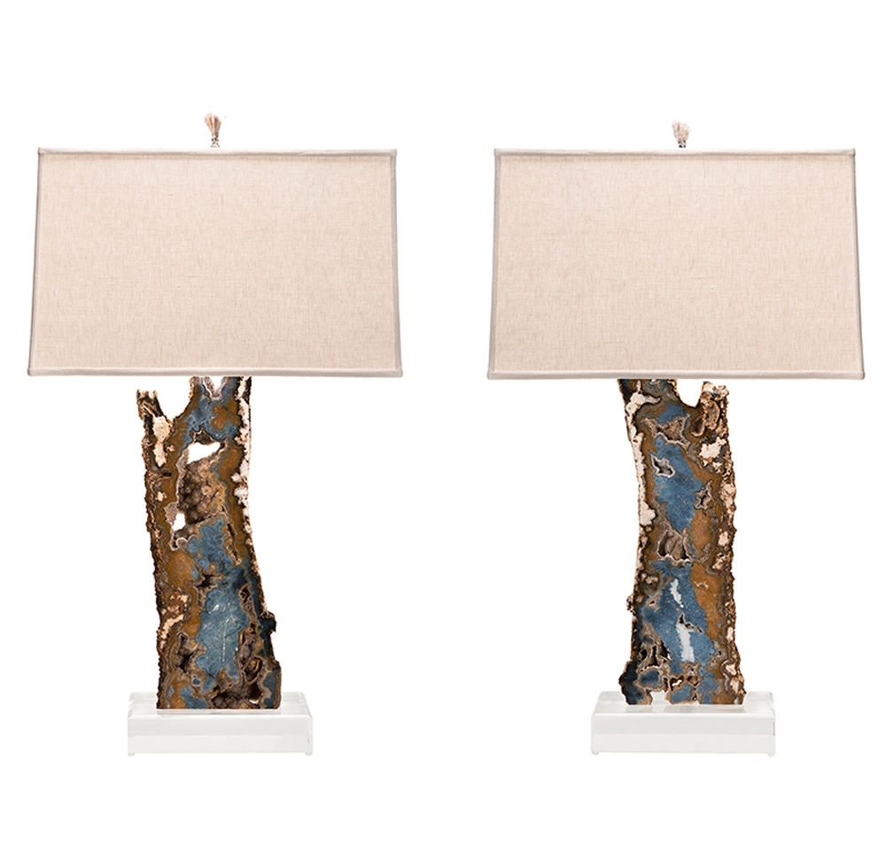 Blue & Brown Agate Slab Lamp Pair on Lucite Bases KB_Home.jpg