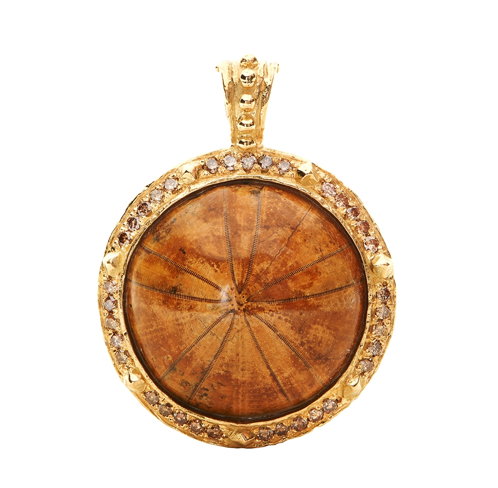 Fossilized Sea Biscuit & Diamond Pendant Kennon70417.jpg