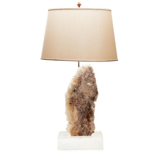 Agate Slab Specimen Lamp on Lucite Base