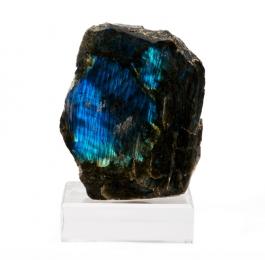 Labradorite Specimen on Lucite Base