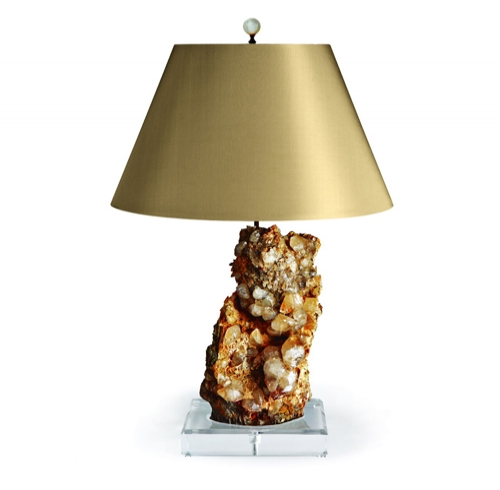 Moroccan Calcite Lamp on Lucite Base