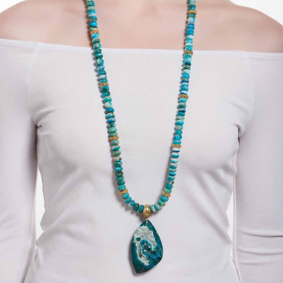 Chrysocolla & Drusy Pendant N-1657D-1310_on_model.jpg