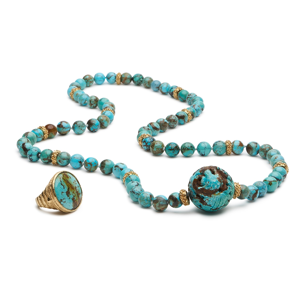 Turquoise Bead Necklace with