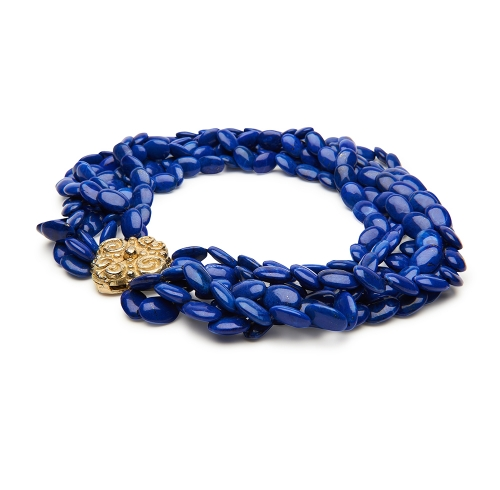 Lapis Bead Necklace with