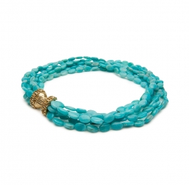 Amazonite Bead Necklace with
