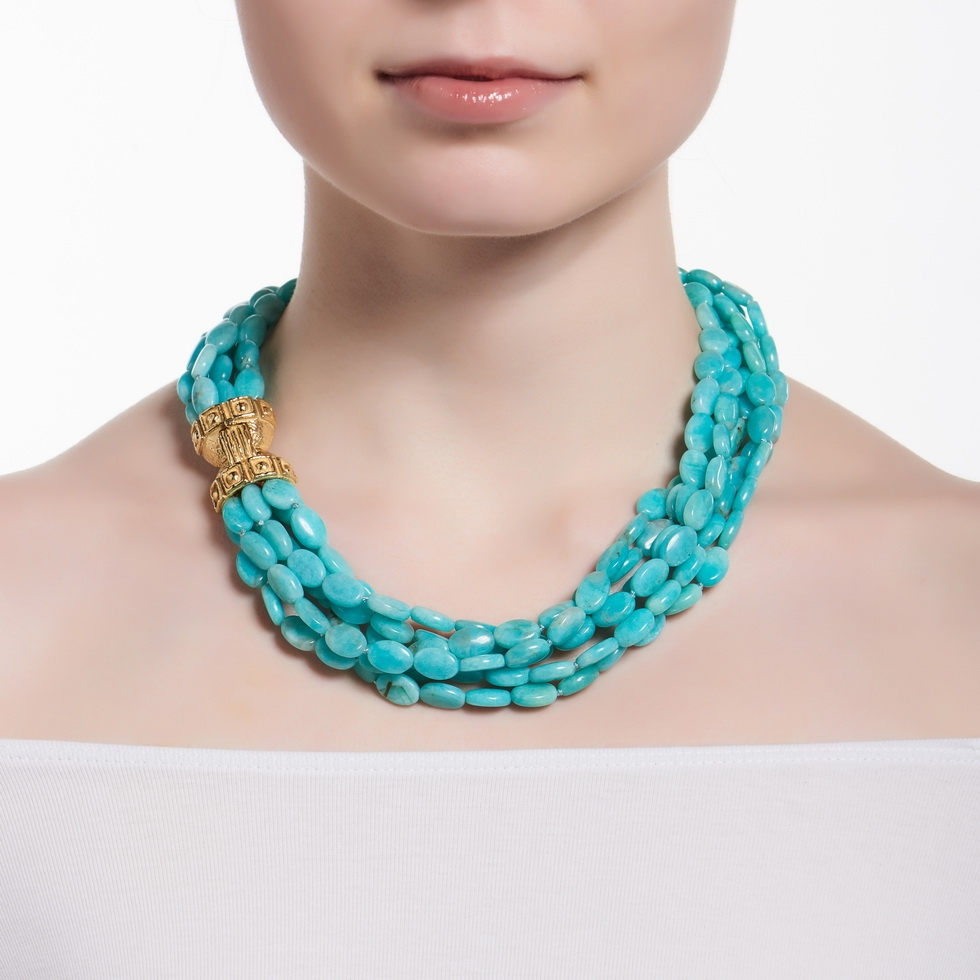 Amazonite Bead Necklace with