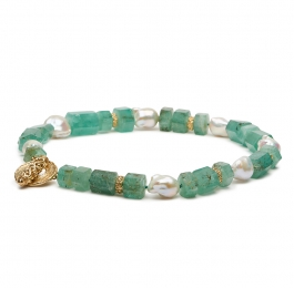 Emerald Bead, Pearl and