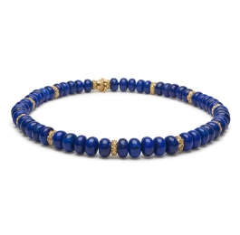 Lapis Bead Necklace with 6mm