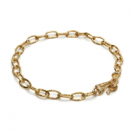 12mm Oval Link Necklace with Large Dana's Clasp