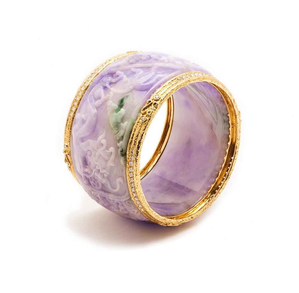 Carved Lavender Jade & Diamond Bangle No._04_of_36_resized_.jpg