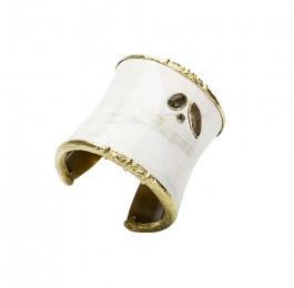 Horn Cuff with Sapphires & Diamond