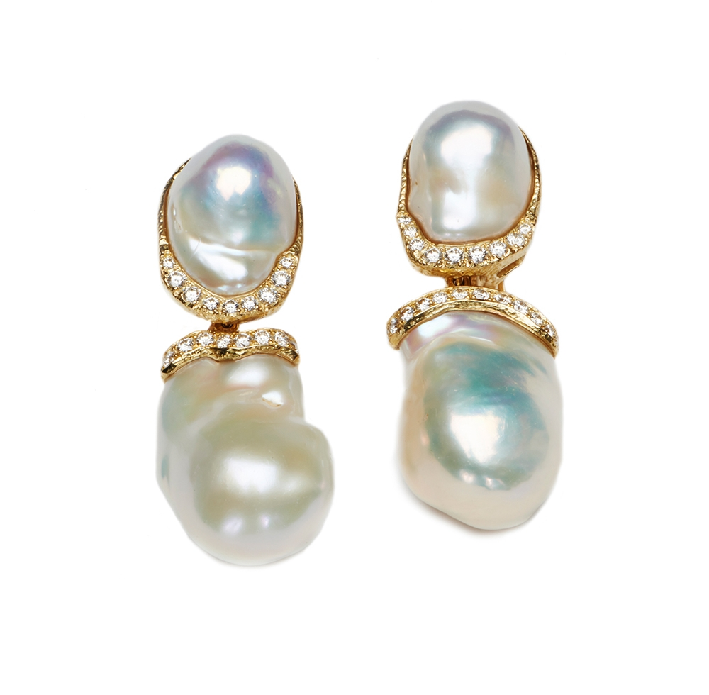 Baroque Freshwater Pearl & Diamond Earrings with Removable Drops No._09_of_73_resized_.jpg