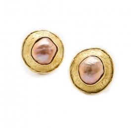 Freshwater Pink Pearl Earrings