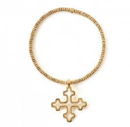 Diamond Taterpillar Necklace & Open Light Cross Pendant