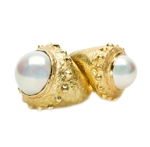 Dots & Diamonds Rings with Mobe Pearl