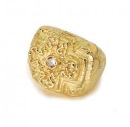 Laura's Cross Ring with Diamond