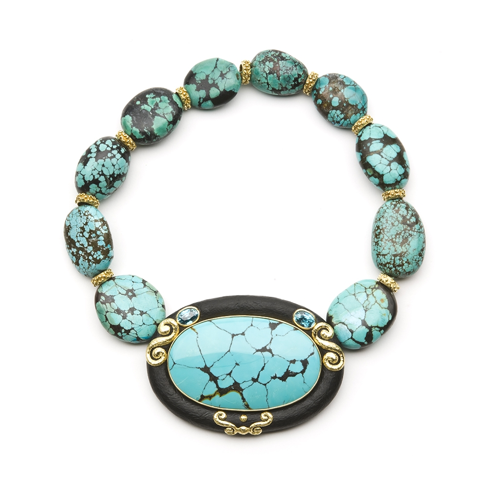 Turquoise, Jet & Blue Zircon Necklace with Laura Rondelles No._31_of_39_resized_.jpg