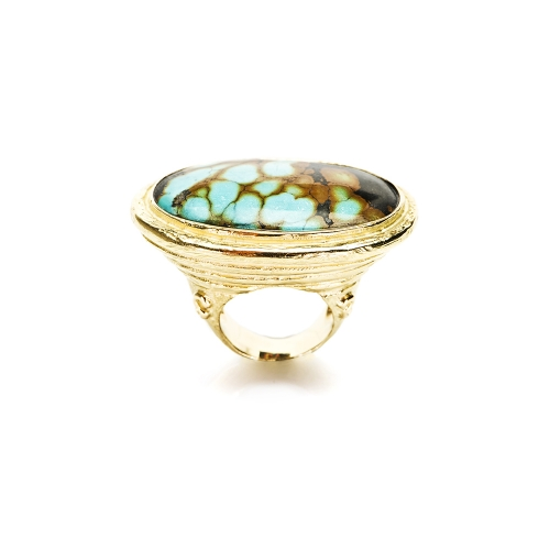 Cabochon Chinese Turquoise Ring