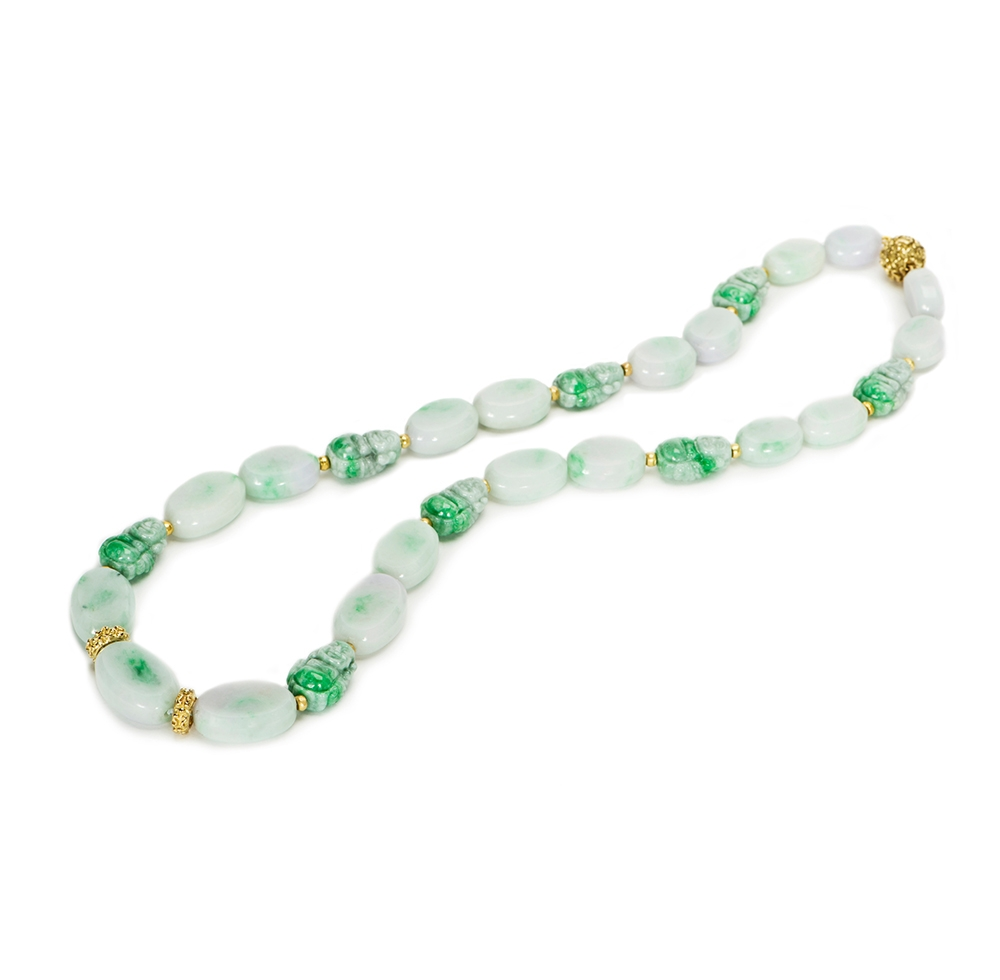 Jade Bead Necklace with