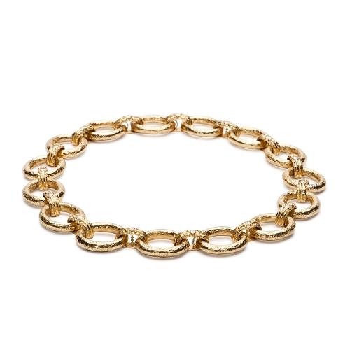 Two Medium Courtney's Bridge Link Bracelets joined as Necklace