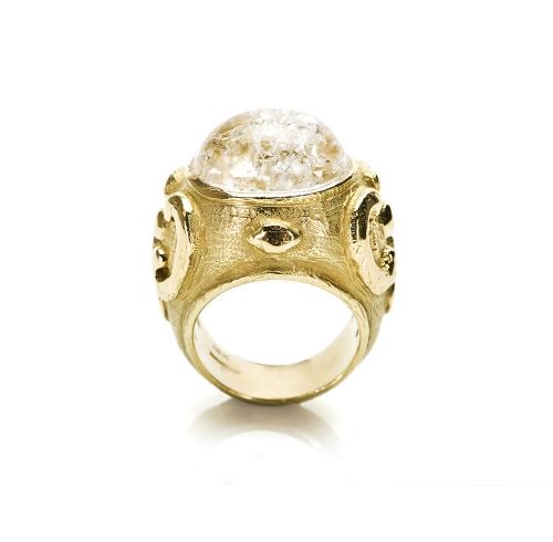 Chinati Ring in Rock Crystal