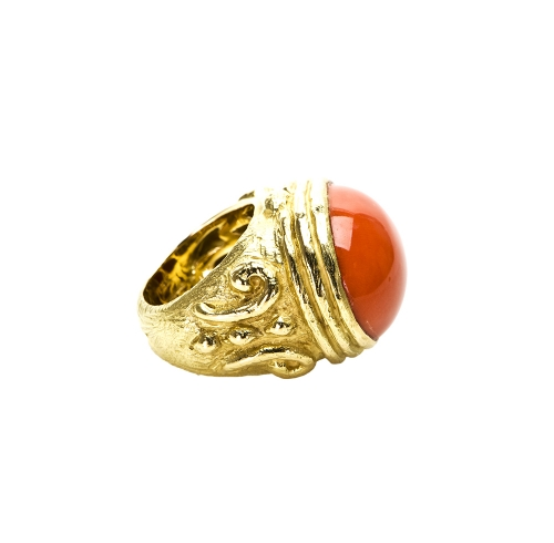 Chau's Finale Ring in Coral