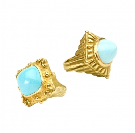 Sugarloaf Ring in Persian Turquoise &