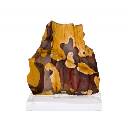 Polished Mookaite Slice on Lucite Easel
