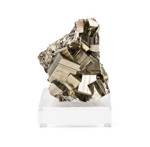 Pyrite Specimen on Lucite Base