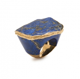 Carved Lapis Ring