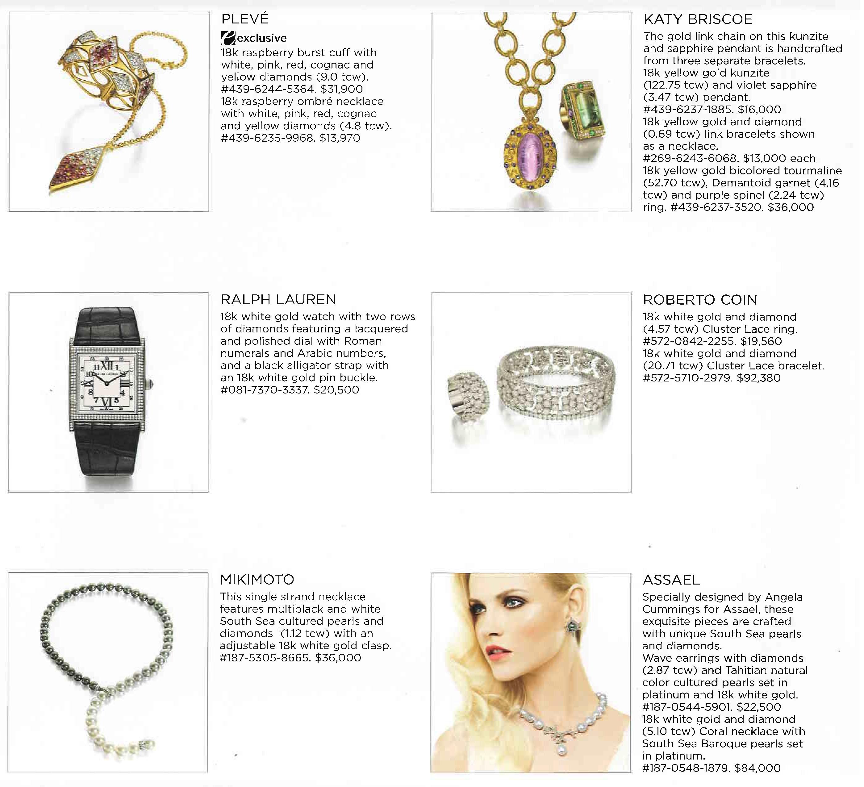 saks jewelry catalog press katy briscoe fine jewelry and home